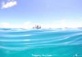 晴れ凪色の海